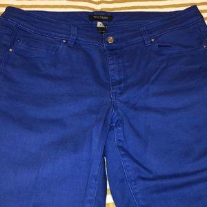 White House Black Market royal blue jeans size 12R